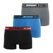 Athena - Lot de 3 boxers PULSE noir bleu gris