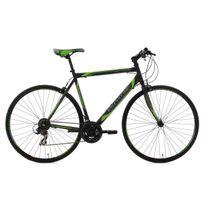 Ks Cycling - Vélo fitness 28'' Piccadilly noir-vert Tc 59 cm