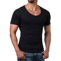 Young And Rich - Tee shirt homme fashion Tee shirt 874 noir col rond