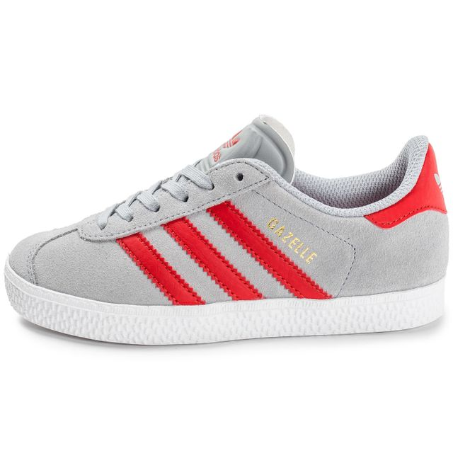 Adidas originals - Gazelle Enfant Grise Et Rouge 38 2/3