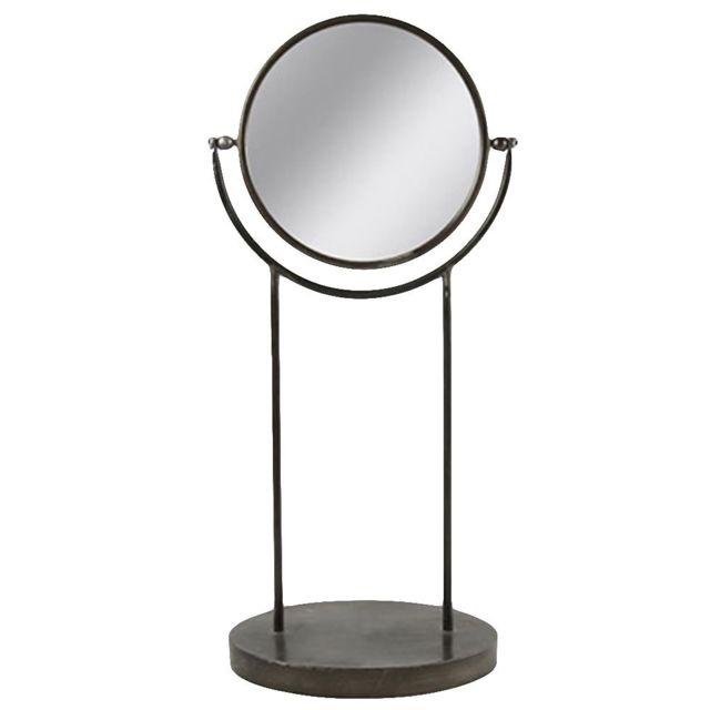Decoshop Miroir rond à poser 63 cm