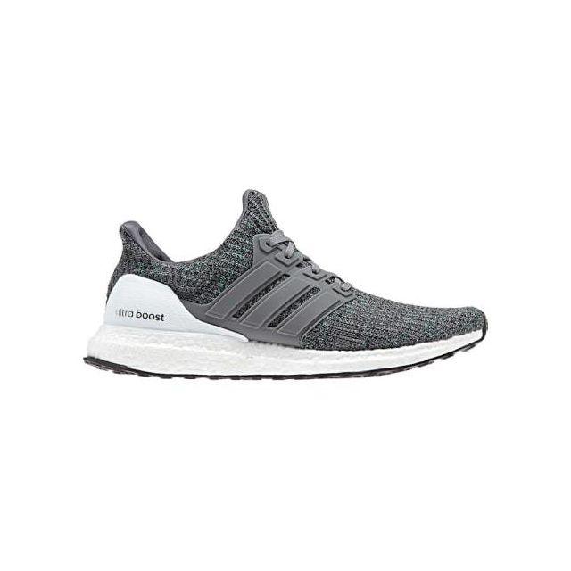 buy popular 826ab 5a750 Adidas - Chaussures Ultra Boost gris clair blanc noir - pas cher Achat   Vente  Chaussures athlétisme - RueDuCommerce