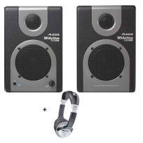 Alesis - Pack Monitor One Active 320 Usb - Paire d'enceinte de monitoring studio active 10w + Casque