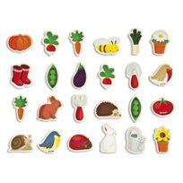 Janod - Magnets en bois : 24 pièces : Jardin