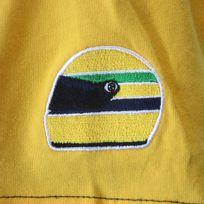 Ayrton Senna - T-shirt Racing jaune et noir pour homme