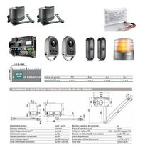 Somfy - Motorisation à bras portail battant Pack Confort Io Axovia Multipro 3S