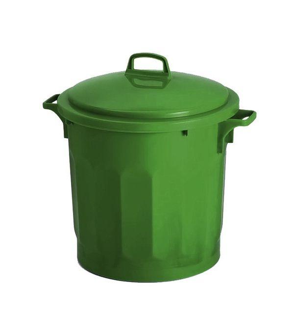 Gilac Conteneur 75 Litres Vert avec Couvercle
