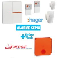 Hager - Alarme Logisty Sepio :Pack Radio Rlp304F + Sirene exterieure