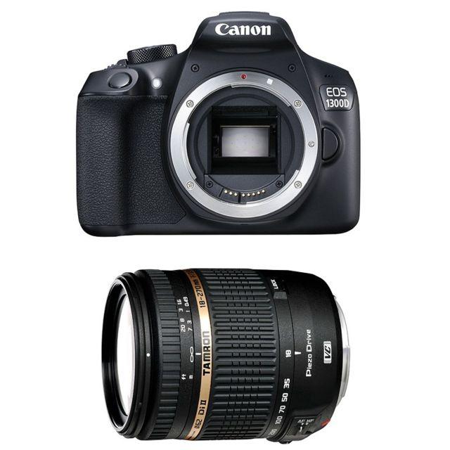 Canon Eos 1300D + Tamron Af 18-270 f/3.5-6.3 Di Ii Vc Pzd IF, Garanti 3 ans