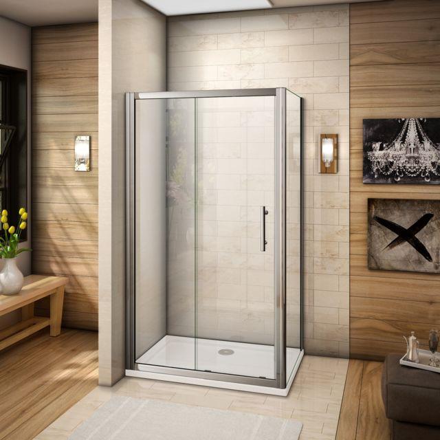 marque generique cabine de douche 100x80x185cm porte de. Black Bedroom Furniture Sets. Home Design Ideas