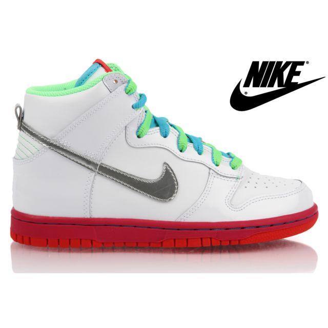 Nike Basket Dunk High GS pas  Blanc 316604 107 pas GS cher Achat 42eeac