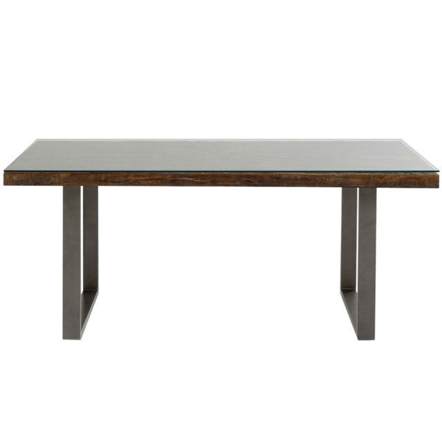 Karedesign Table Conley pieds acier 180x90cm Kare Design