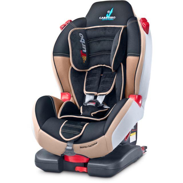 116cd449ee25a Caretero - Siège auto groupe 1 2 bébé enfant 9-25 kg Sport Turbo Fix ...