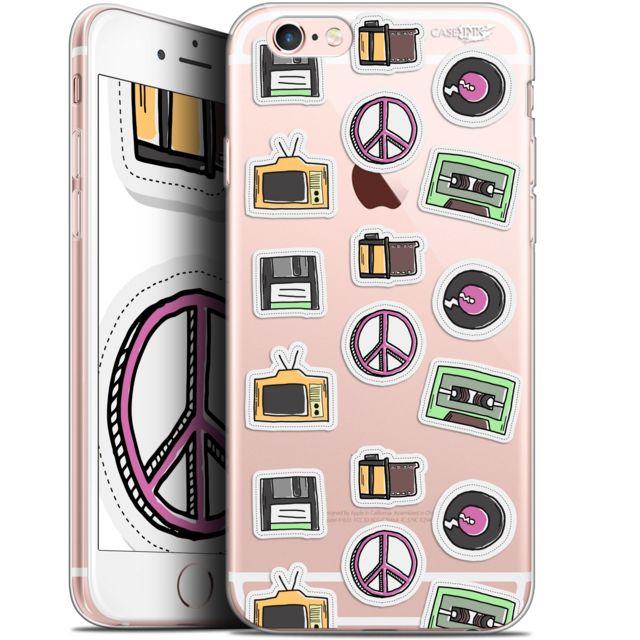 coque gel apple iphone 6 6s 47 extra fine motif vintage stickers
