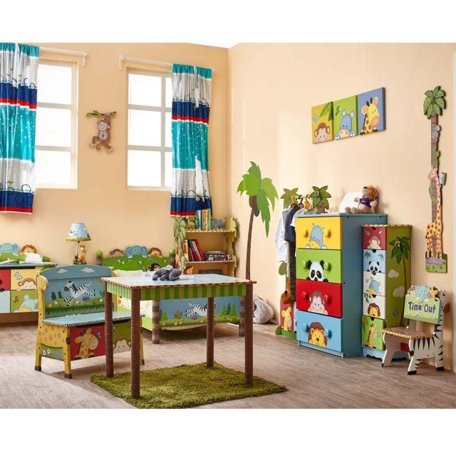 FANTASY FIELDS - Penderie armoire de rangement bois portant barre latérale valet enfant TD-0045A