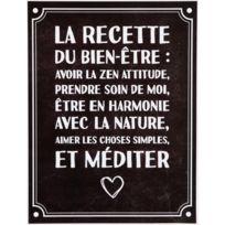Promobo - Planche Stickers Citation Recette Bien Etre Fond Noir