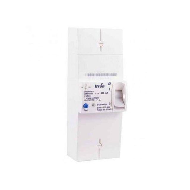 Itron 400024 disjoncteur de branchement edf 2p 60a non diff rentiel sdb ii 000 60a pas - Branchement coupe circuit 6 poles ...