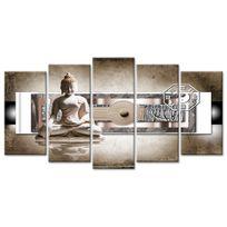 Declina - Tableau d?coratif jardin zen et bouddha sur toile - Made in France