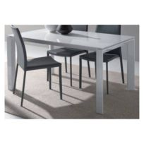 table laque blanche 140 cm x 80cm achat table laque. Black Bedroom Furniture Sets. Home Design Ideas