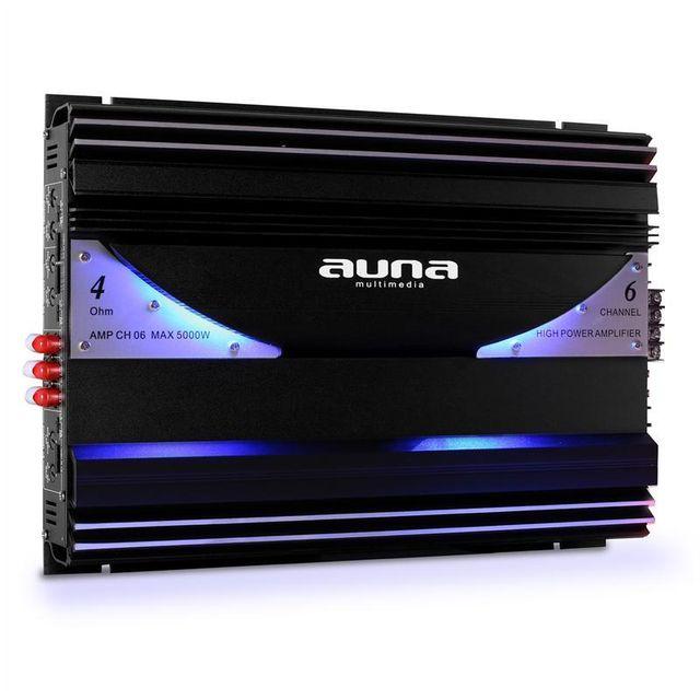 AUNA ampli auto car 6 5 4 canaux bridgeable sono 570W RMS 5000W