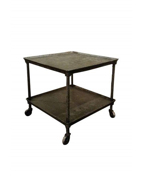 rencontrer 12b90 8c991 Petite table d'appoint industrielle à roulettes