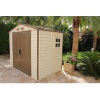 Duramax - Abri de jardin ivoire et marron 4,13 m2 Premium Pvc Woodstyle 8x6 - Duws86PR