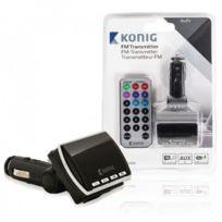 Konig - Transmetteur Fm noir avec télécommande