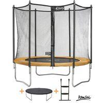 Kangui - Pack trampoline Funni Pop 305 avec échelle + couverture