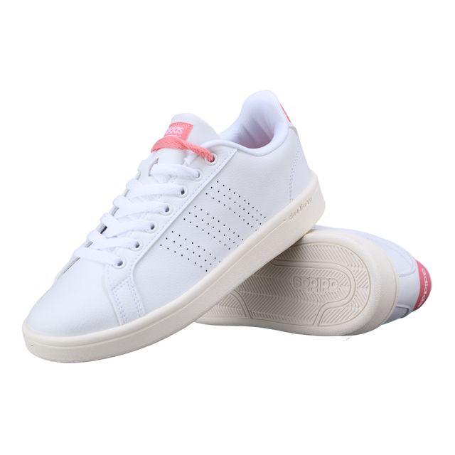 check out d18bd 1844c Adidas - Basket Adidas Cloudfoam Advantage Clean Aw3974 Blanc  Rose