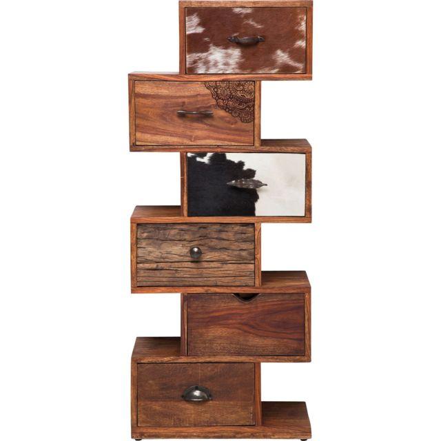 Karedesign Chiffonnier Rodeo Zick Zack 6 tiroirs Kare Design