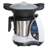DOMOCLIP - robot culinaire chauffant 3l 1500w blanc/métal - dop142w