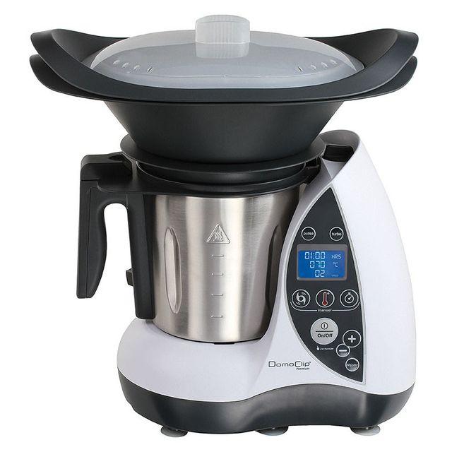 DOMOCLIP Robot culinaire chauffant blanc DOP142W