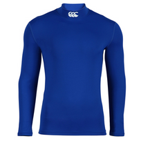 Canterbury - Baselayer Bleu Col Cheminee Ml - taille : M