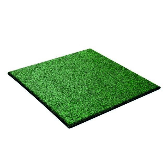 MARQUE GENERIQUE Dalle amortissante verte pour aire de jeu