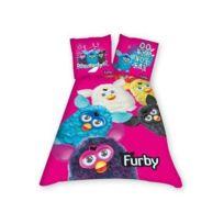 Furby - Parure housse de couette + taie rose