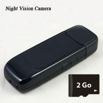 Shopinnov - Cle Usb Camera espion Hd Vision nocturne 2Go