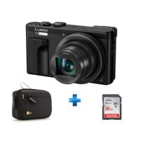 PANASONIC - Pack Expert -DMC-TZ80 NOIR + Carte SD 16GO + Housse case Logic TBC403K