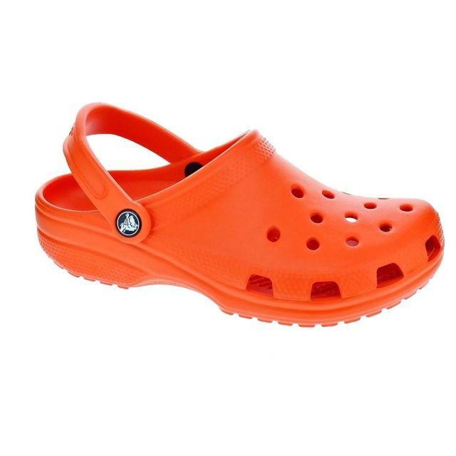 685574e72ec Crocs - Chaussures Femme Sabot modele Classic Tangerine - pas cher Achat   Vente  Sandales et tongs femme - RueDuCommerce