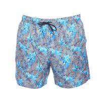 Impetus - Short de bain bleu turquoise à imprimés coraux