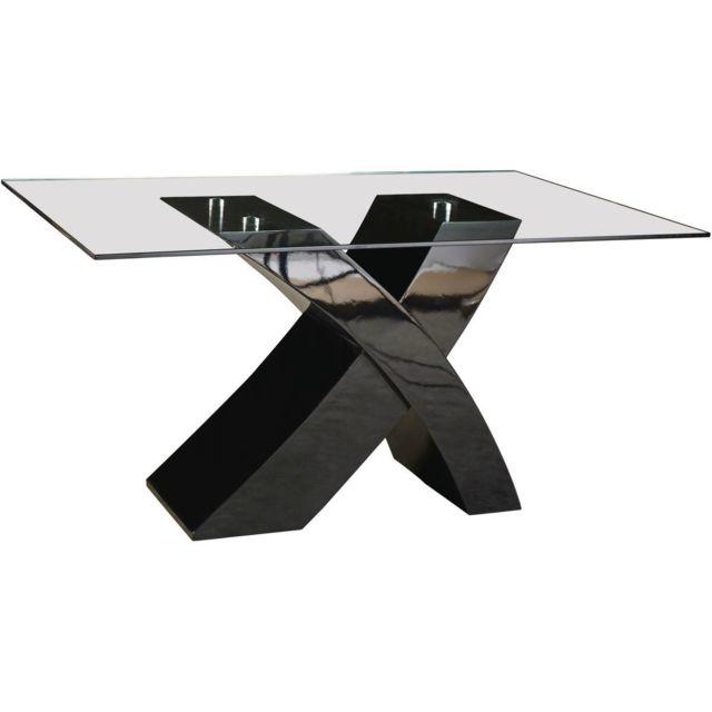 Table repas Mona - 150 x 90 x 74 cm - Noir