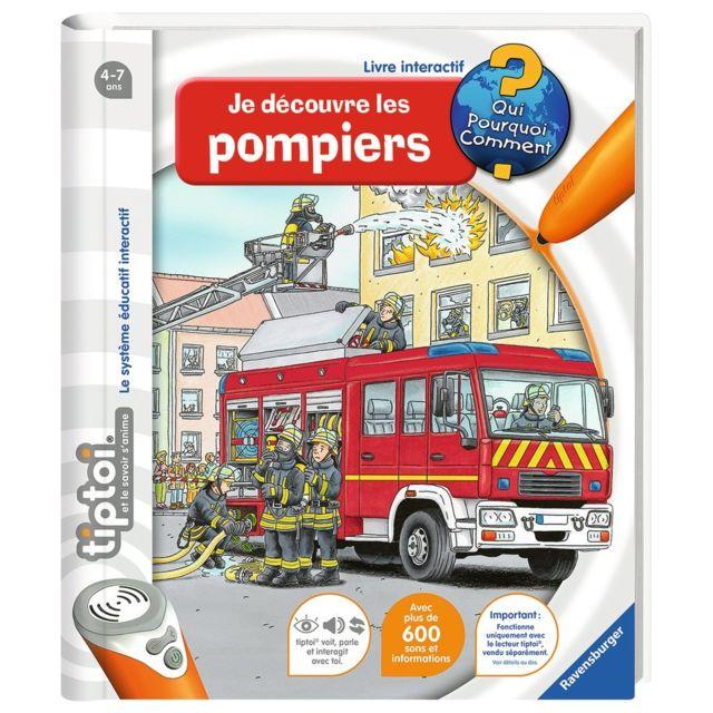 Ravensburger Livre Tiptoi - Je découvre les pompiers - 00694