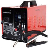 Awelco - Poste à souder Mig Gaz / No Gaz Tecnoweld 100A portable avec accessoires et bobine de fil fourré haute qualité