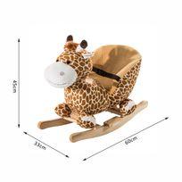 HOMCOM - Jouet à bascule modèle girafon ceinture de sécurité fonction musicale 32 pistes neuf 32