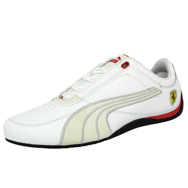 c4f592947bb Puma - Puma Drift Cat 4 Sf Carbon Ferrari Chaussures Mode Sneakers Homme  Cuir Blanc Ortholite