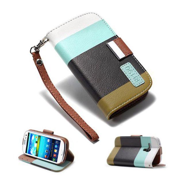 Lapinette - Etui Housse Tri-Couleur Pour Samsung Galaxy S3 Mini - Jaune noir bordeau