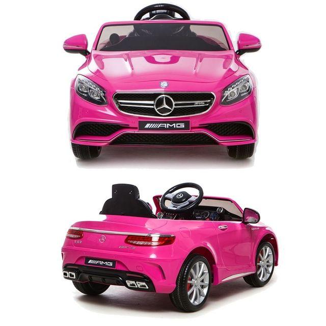 Mercedes - Voiture électrique 12V enfant S63 Luxe Rose