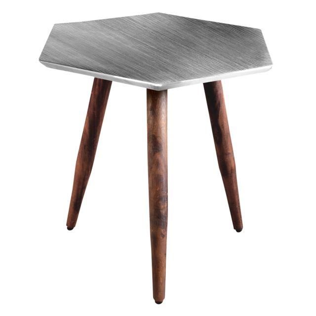 Rendez Vous Deco Table basse Priyanka chrome