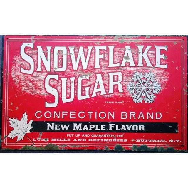 Universel plaque snowflake sugar affiche pub tole deco usa cuisine