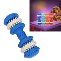 Wewoo - Jouet pour Animaux compagnie Nettoyage dents Chewing Haltères Forme Jouets en caoutchouc souple non toxique petite taille longueur: 12cm bleu chien