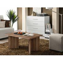 Asm-mdlt - Table basse laminée prunier rectangulaire Nano 90x45x60 cm